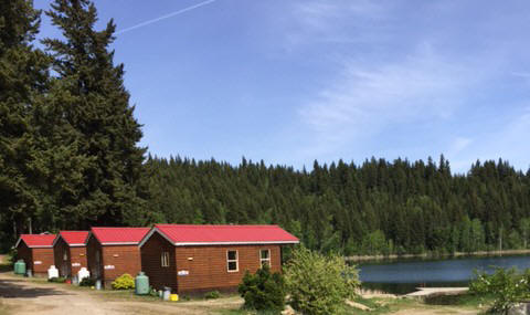 Park Model Cabins, Dutch Lake Resort, Clearwater, BC, Canada, Wells Gray Park